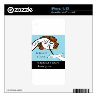 ASL Why Learn to Sign iPhone 4 Skins