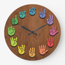 ASL Woodgrain Large Clock