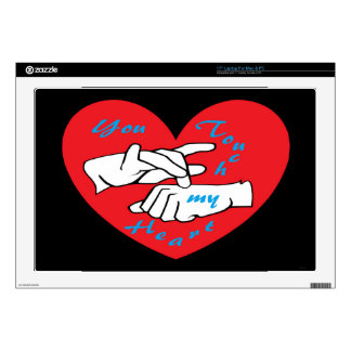 """ASL You Touch my Heart Decals For 17"""" Laptops"""
