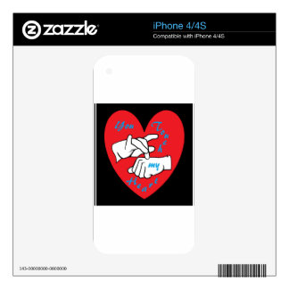 ASL You Touch my Heart Skins For The iPhone 4