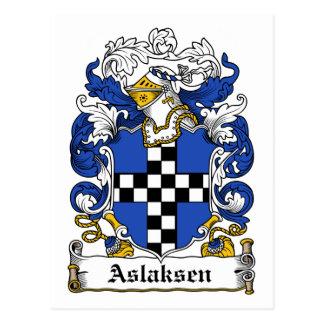 Aslaksen Family Crest Postcard