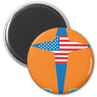aslan America 2 Inch Round Magnet