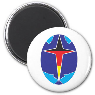aslan German, Germany 2 Inch Round Magnet