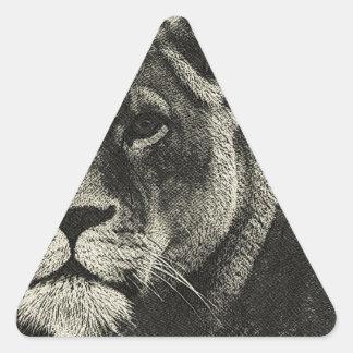 Aslan Hand Drawing Triangle Sticker