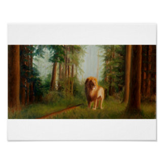 Aslan in the Great Woods Poster