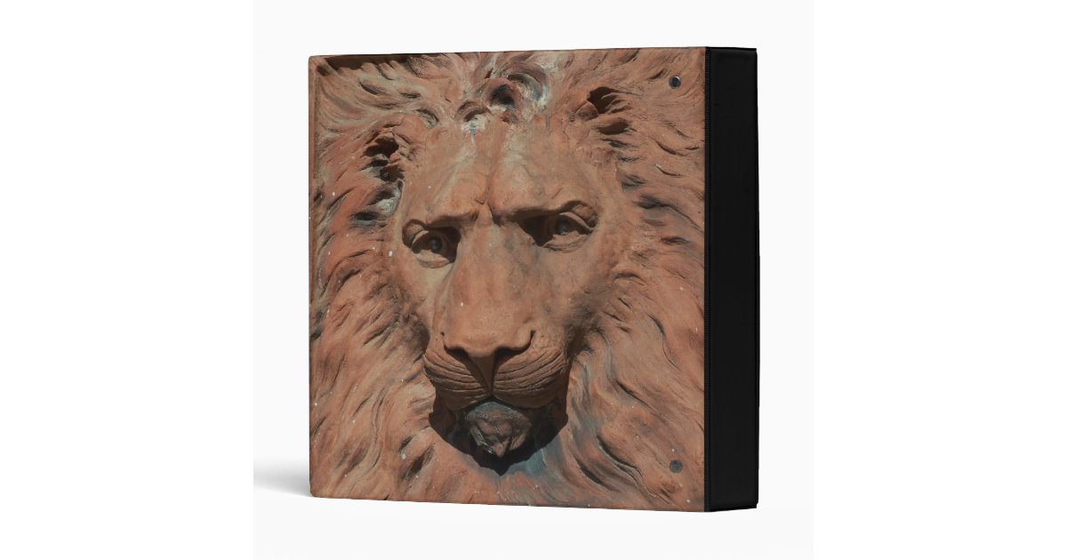 Aslan lion carved relief face notebook binder zazzle