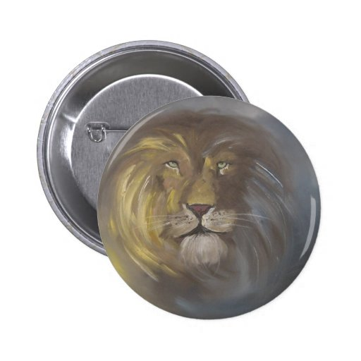 Aslan - Lion Pinback Button