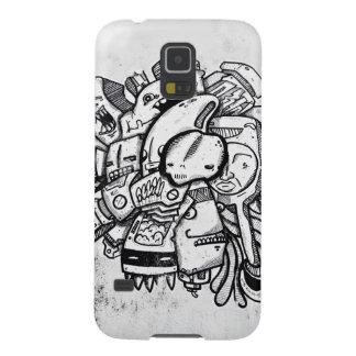 Aslan negro y blanco Miami Toon Carcasa Para Galaxy S5