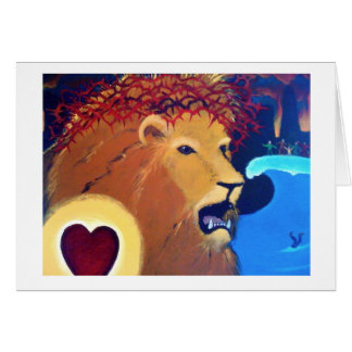 Aslan Roars Card
