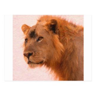 Aslan The king art Postcard