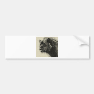Aslan the king  Hand Drawing Bumper Stickers
