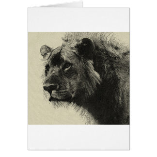Aslan the king  Hand Drawing Card