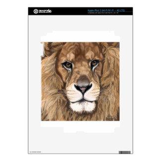 Aslan the Lion Original Pastel Art Skins For iPad 3