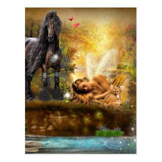 Asleep To Dream Fairy Postcard