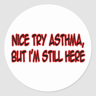 Asma agradable del intento… pegatina redonda