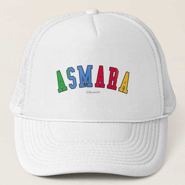 Asmara in Eritrea National Flag Colors Mesh Hat