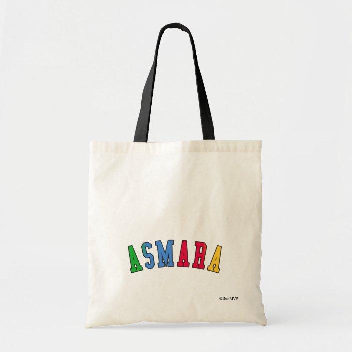 Asmara in Eritrea National Flag Colors Tote Bag