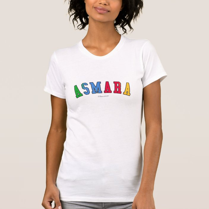 Asmara in Eritrea National Flag Colors Tshirt