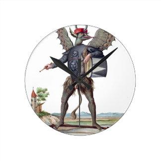 Asmodai, demonio de la cólera reloj redondo mediano