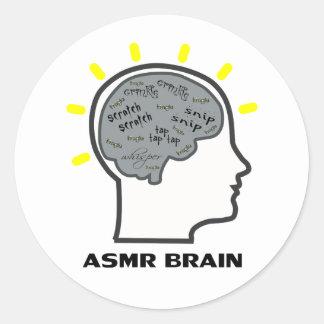 ASMR Brain Classic Round Sticker