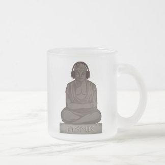 ASMR Buddha Frosted Glass Coffee Mug