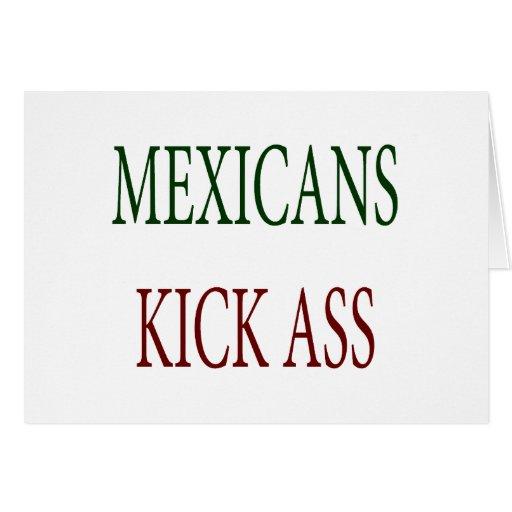 Asno del retroceso de los mexicanos felicitación