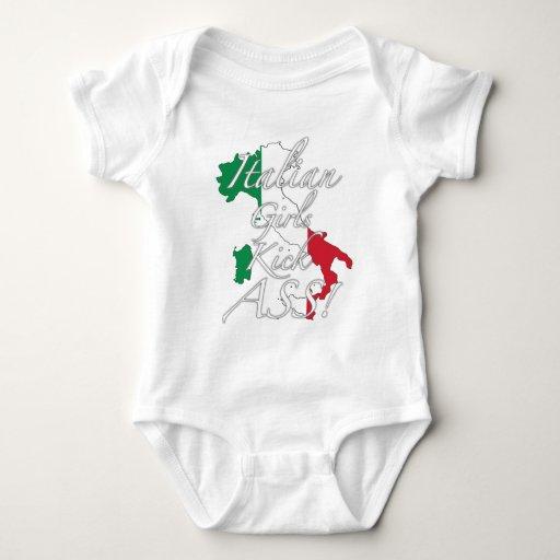 ¡Asno italiano del retroceso de los chicas! Body Para Bebé