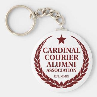 Asociación de alumnos cardinal del mensajero llavero redondo tipo pin