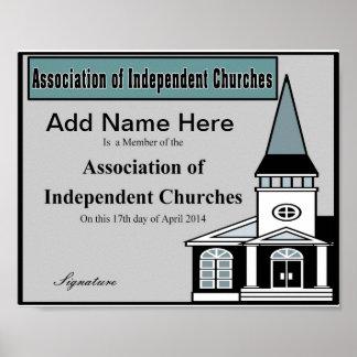 Asociación de iglesias independientes póster