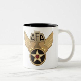 Asociación de la fuerza aérea taza de dos tonos