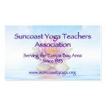 Asociación de los profesores de la yoga de tarjetas de visita