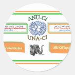 Asociación de Naciones Unidas del d'Ivoire de Cote Pegatina Redonda