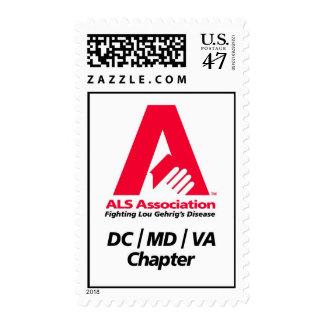 Asociación del ALS - capítulo de DC/MD/VA Timbre Postal