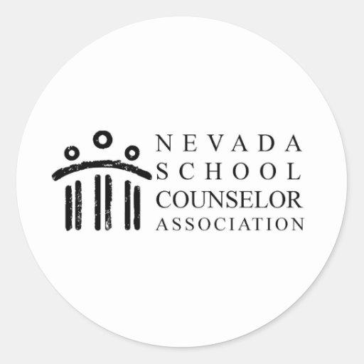 Asociación del consejero de la escuela de Nevada Pegatinas Redondas