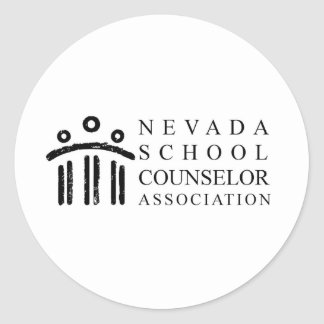 Asociación del consejero de la escuela de Nevada Pegatina Redonda