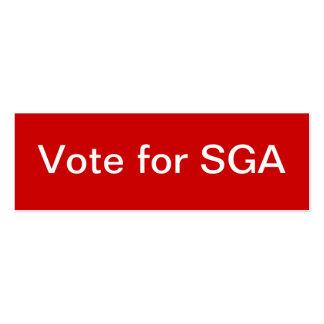 Asociación del gobierno del estudiante (SGA) flaca Plantilla De Tarjeta De Negocio