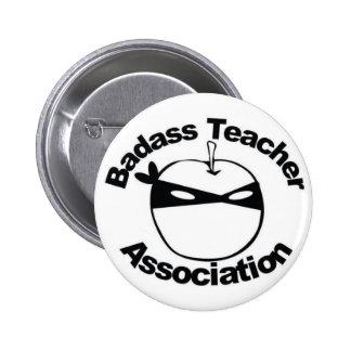 Asociación del profesor de Badass - Ninja Apple fi Pin Redondo 5 Cm
