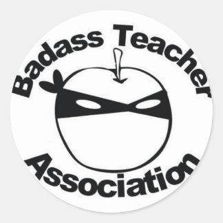 Asociación del profesor de Badass Pegatina Redonda