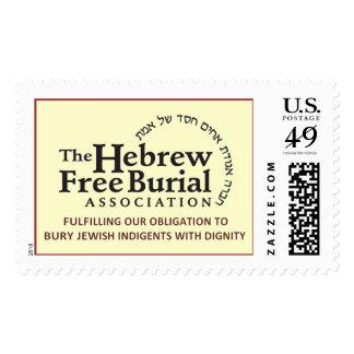 Asociación libre del entierro del hebreo estampilla