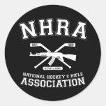Asociación nacional del hockey y del rifle etiqueta redonda