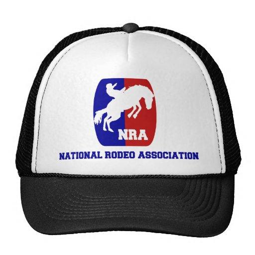 Asociación nacional del rodeo gorras de camionero