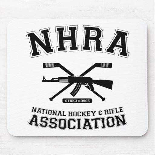 Asociación nacional Mousepad del hockey y del rifl Tapetes De Raton