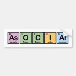 Bumper Sticker with Asocial design