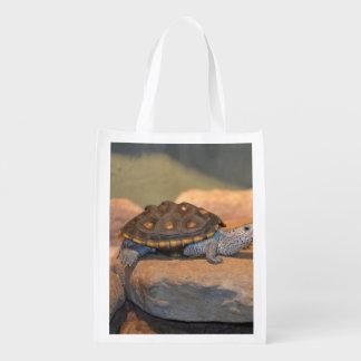 Asolear la tortuga bolsas reutilizables