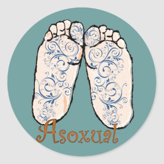Asoxual Classic Round Sticker