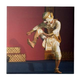 aspara dancer monkey. Cambodia Ceramic Tile