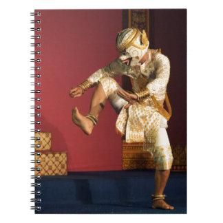 aspara dancer monkey. Cambodia Notebook