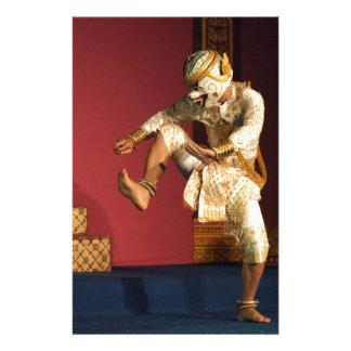 aspara dancer monkey. Cambodia Stationery