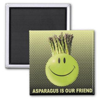 ASPARAGUS 2 INCH SQUARE MAGNET