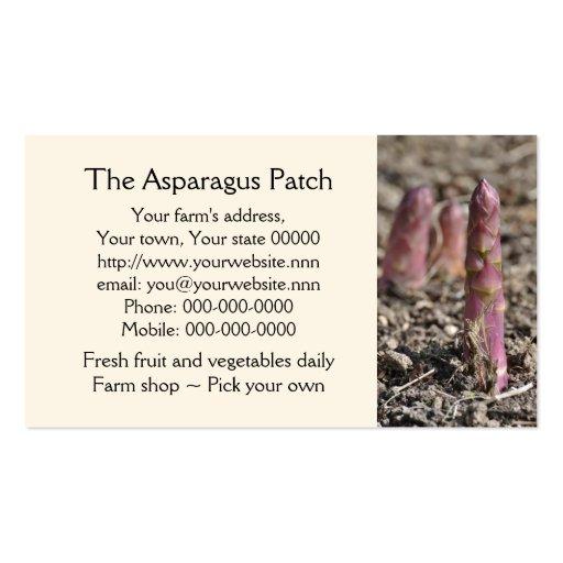 Asparagus business card